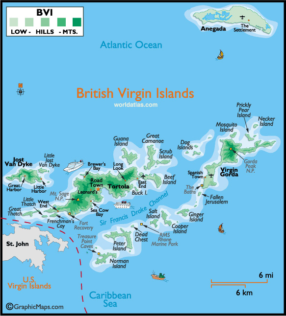 map of the british virgin islands