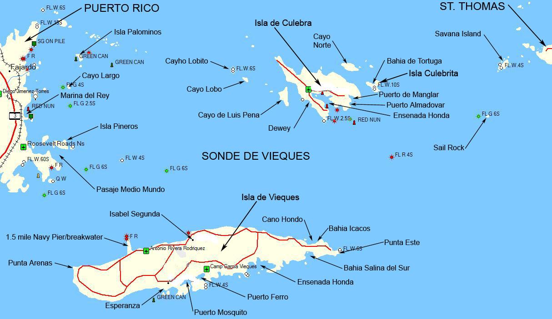 map of the spanish virgin islands
